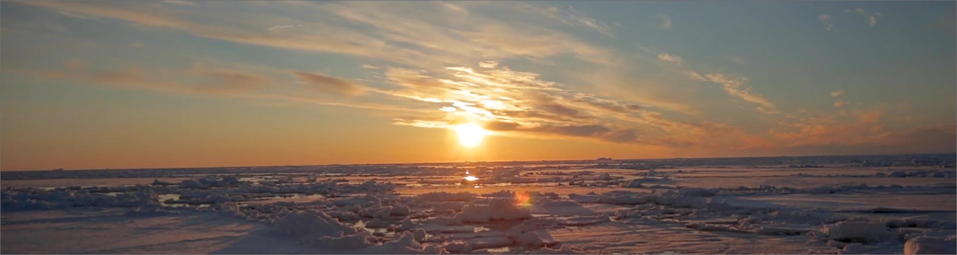 Couché de soleil arctique