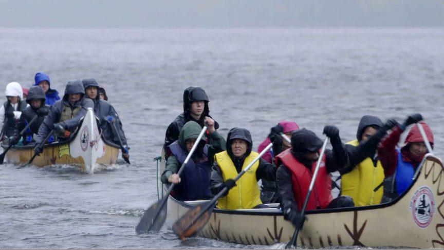 Stanley dans une expédition à canot